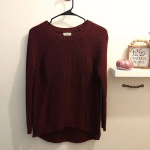 Sienna Sky Deep Red Knit Sweater